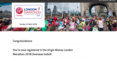 Virgin Money London Marathon 2018